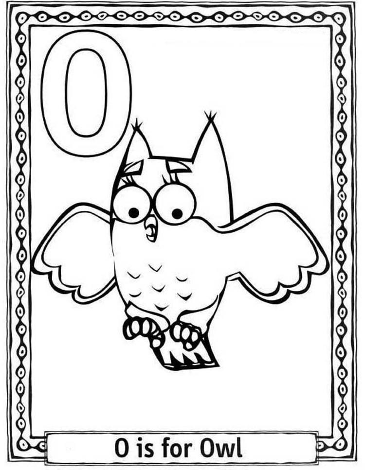 Owl Alphabet Coloring Pages