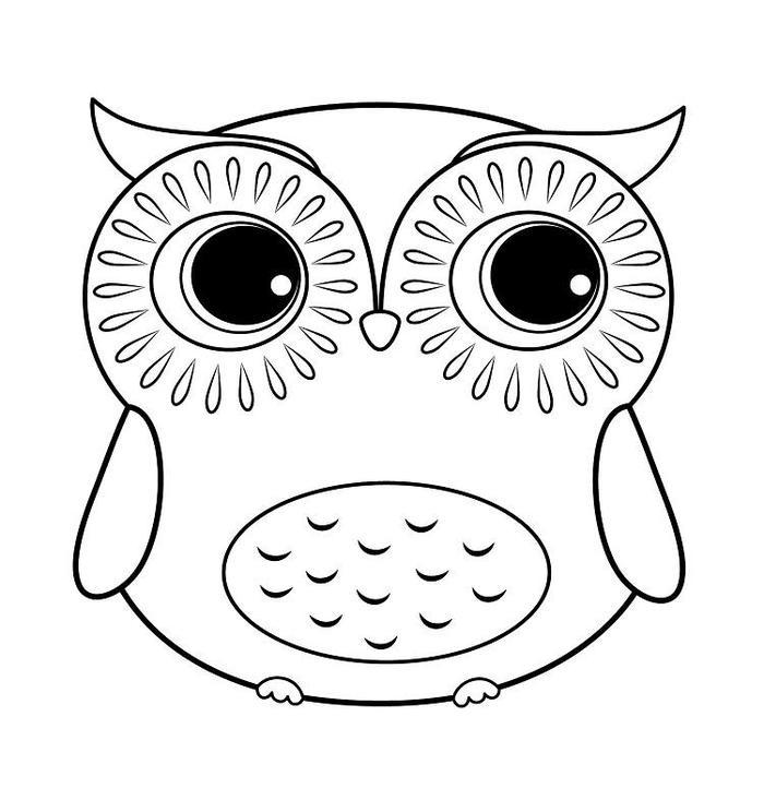 Owl Coloring Pages For Girls
