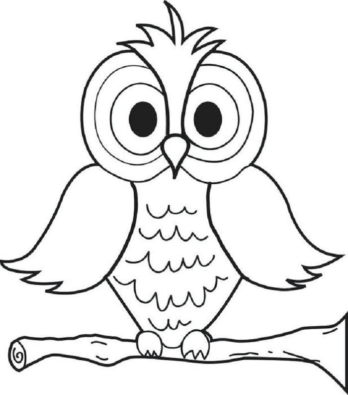Owl Coloring Pages For Preschool