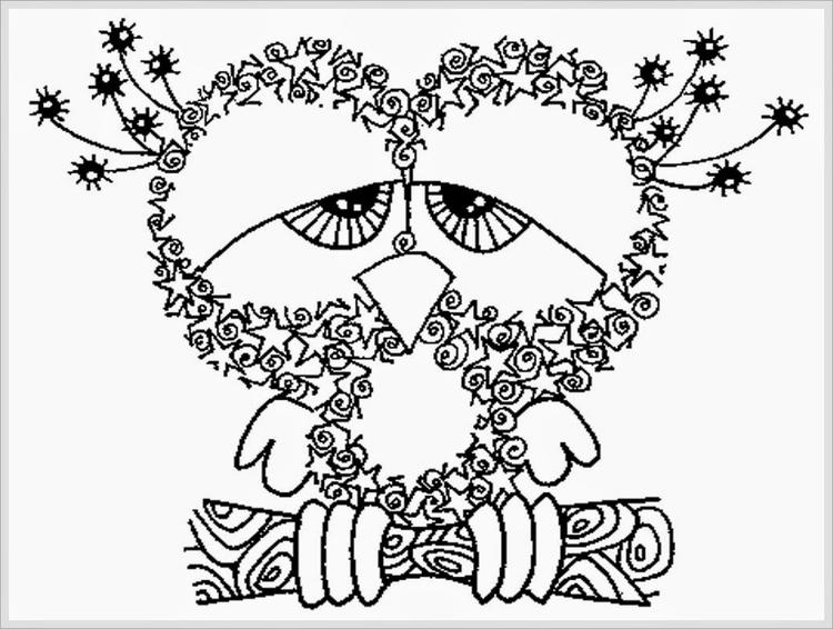 Owl Free Printable Adult Coloring Pages 1