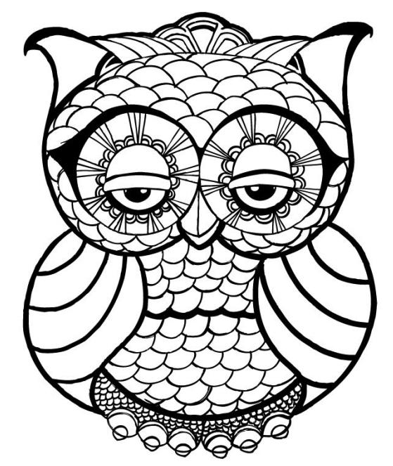 Owl Mandala Coloring Pages For Adults