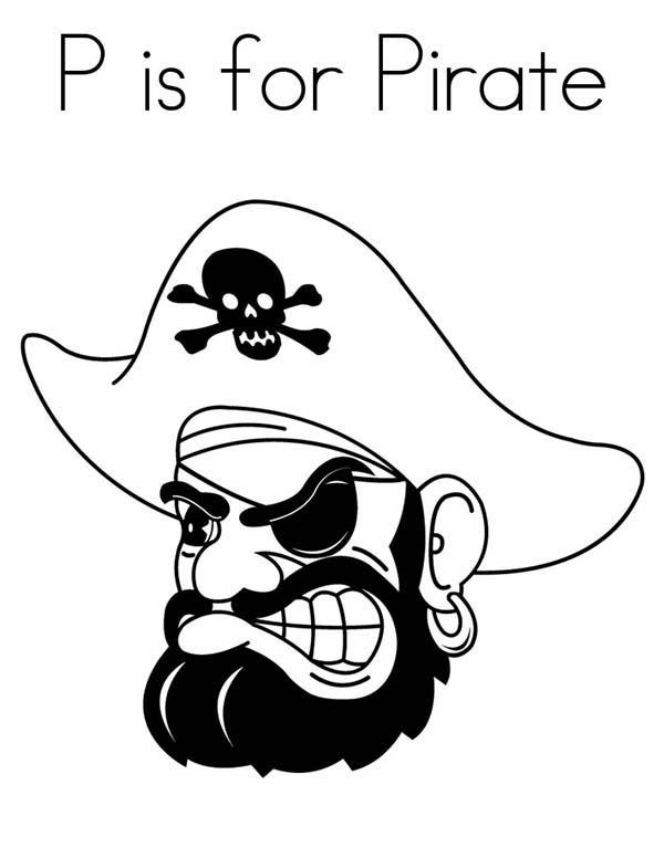 P Is For Pirate Coloring Pages
