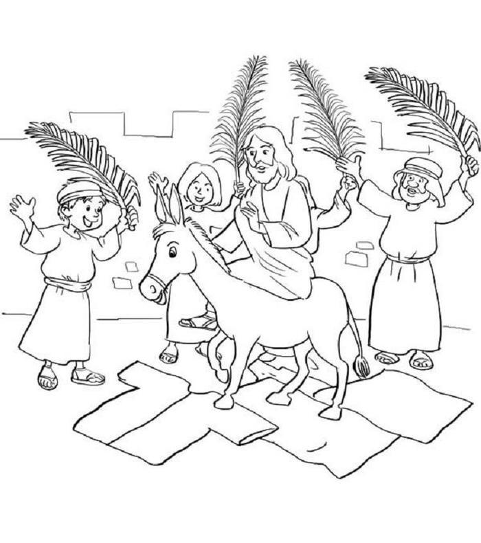 Palm Sunday Donkey Coloring Pages