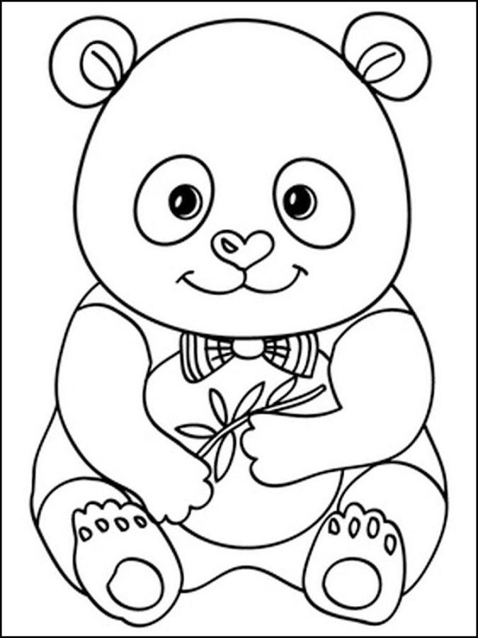 Panda Coloring Pages Little Panda