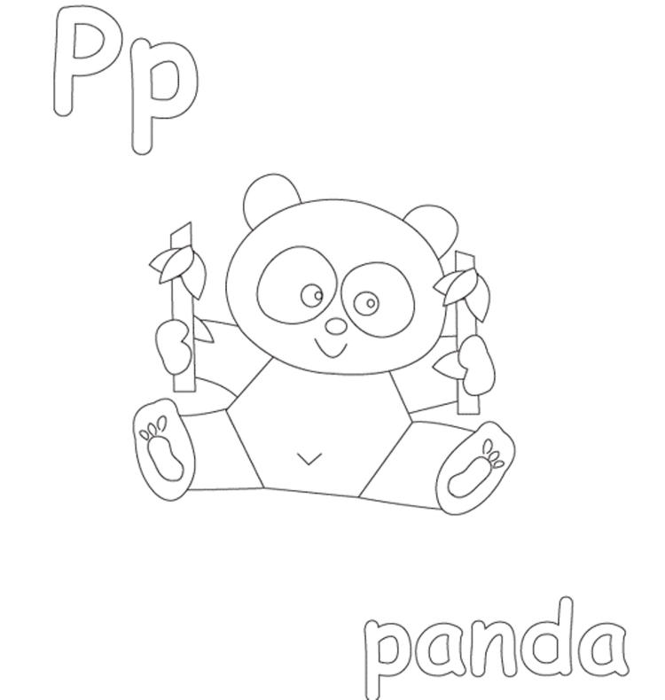 Panda Free Alphabet Coloring Pages
