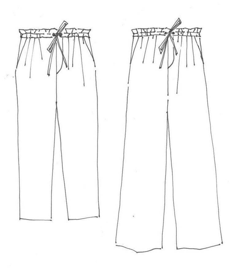 Pants Lineart Drawing Picture
