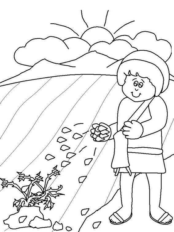 Parable Of The Sower Printable Coloring Page For Kids