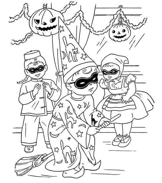 Parties Halloween Coloring Pages