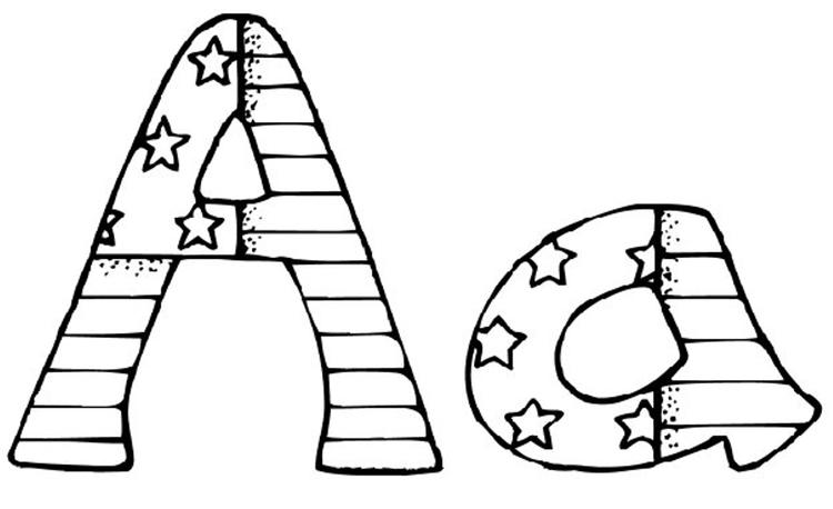 Patriotic Alphabet Coloring Pages Printable