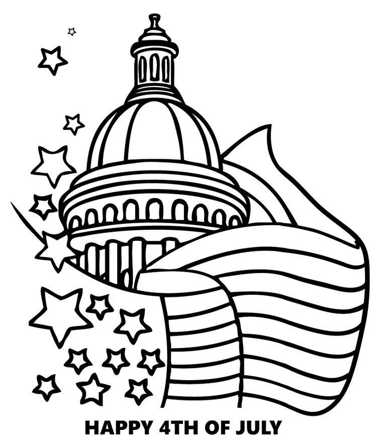 Patriotic Coloring Pages Fourth Of July