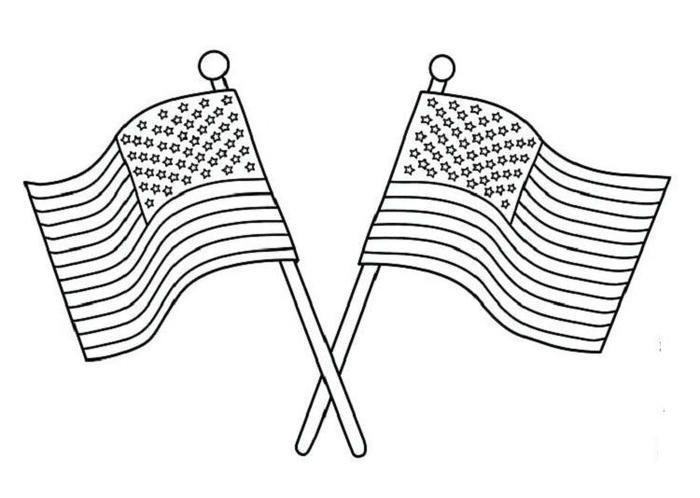 Patriotic Us Flag Coloring Pages