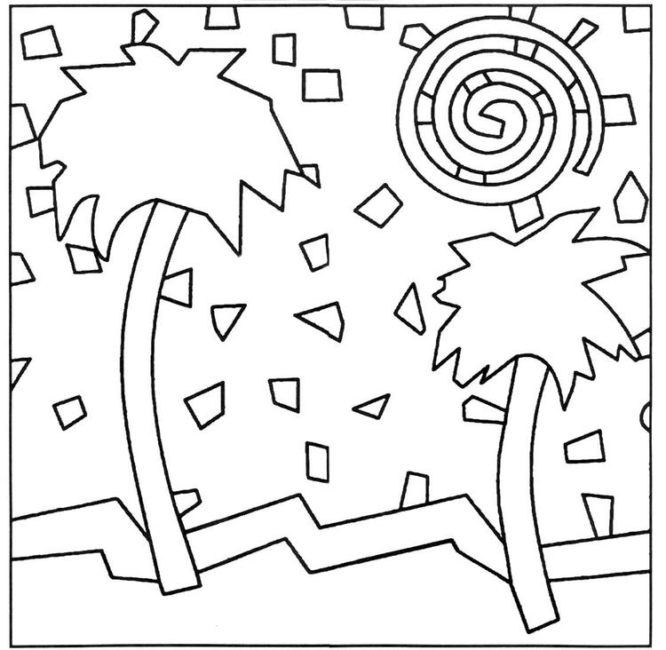 Pattern Simple Mosaic Coloring Pages