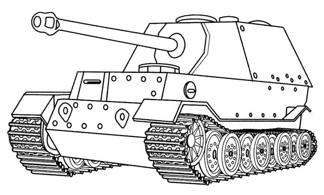Patton Tank Coloring Page For Free