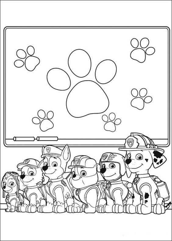 Paw Patrol Coloring Pages All Pups