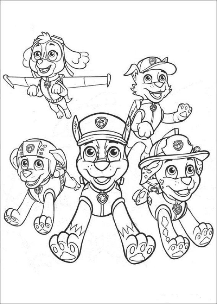 Paw Patrol Crew Coloring Pages