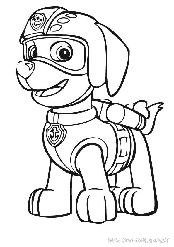 Paw Patrol Zuma Coloring Pages