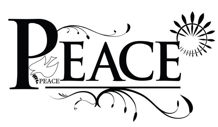 Peace Lettering Coloring Page