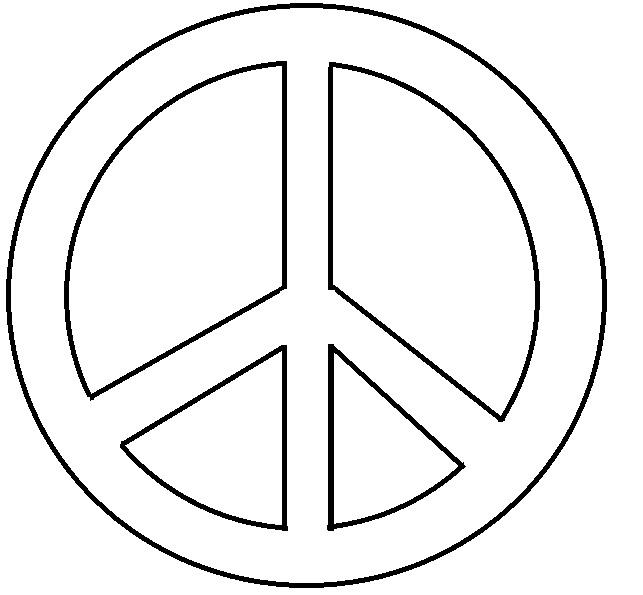 Peace Sign Coloring Pages Easy