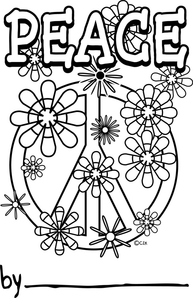 Peace Sign Coloring Pages Free To Print