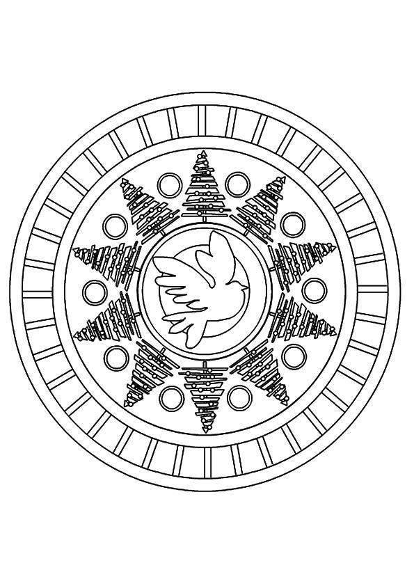 Peace Sign Coloring Pages Mandala