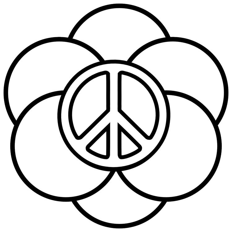 Peace Sign Coloring Pages With Circles