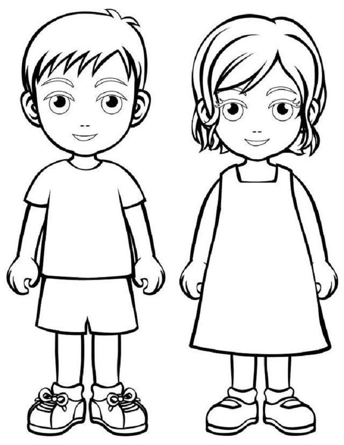 People Coloring Pages For Kids
