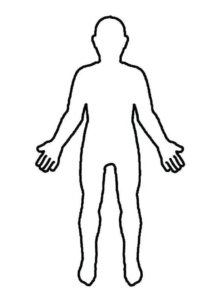People Outline Coloring Pages