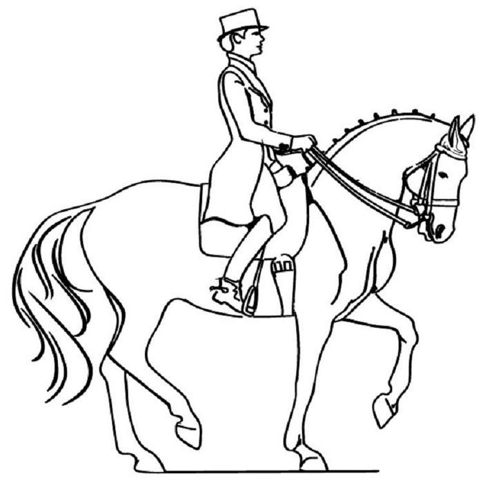 People Riding Horses Coloring Pages