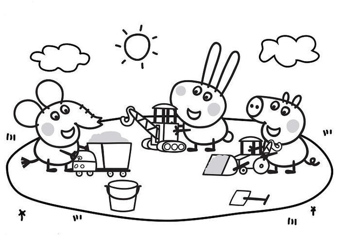 Peppa Pig Activities Coloring Pages