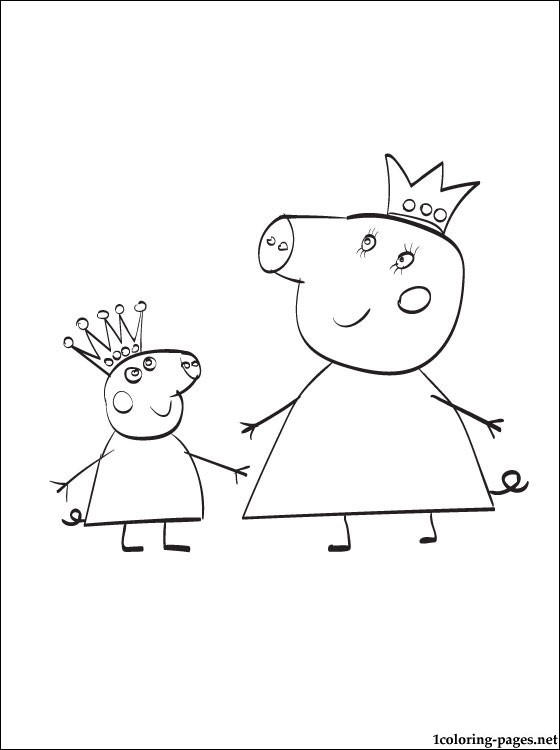 Peppa Pig Birthday Coloring Pages For Print