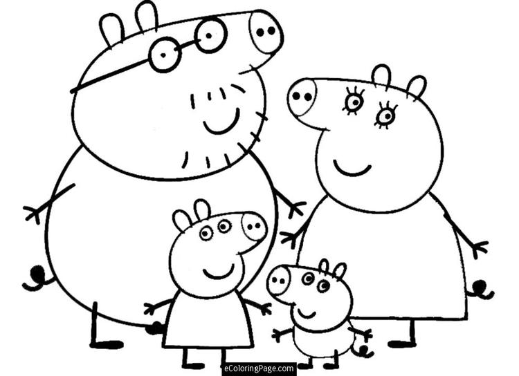 Peppa Pig Christmas Coloring Pages Holidays