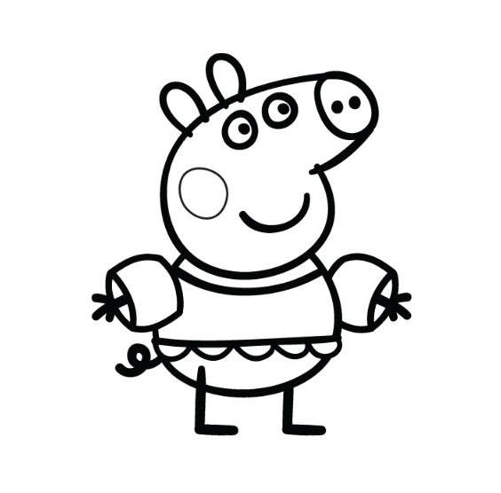 Peppa Pig Coloring Pages For Kindergarten