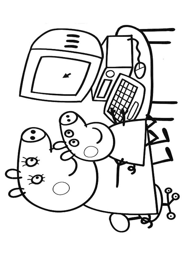 Peppa Pig Coloring Pages Learn Computer