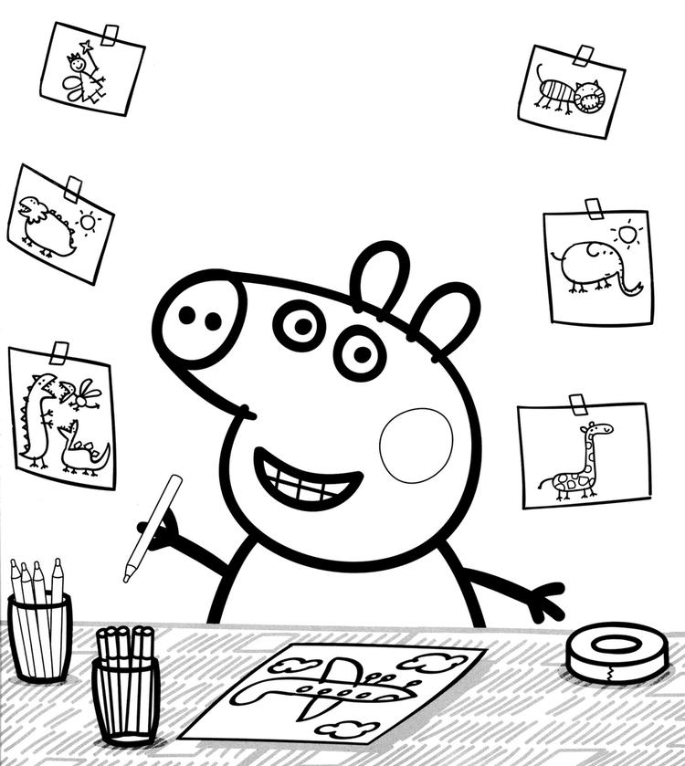 Peppa Pig Colouring Book Printable Nick Jr
