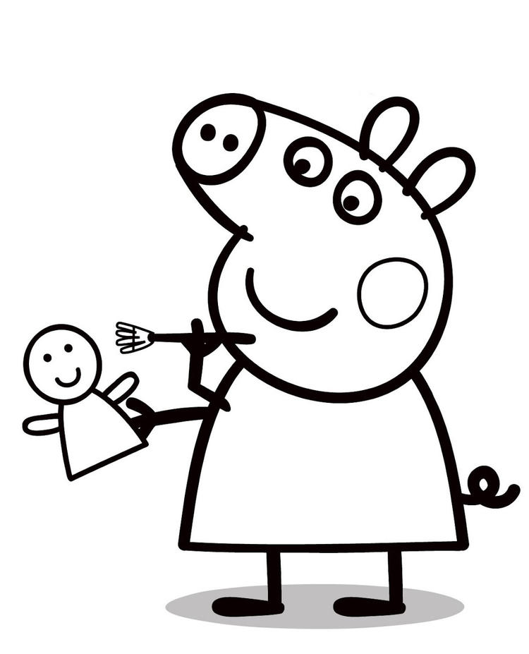 Peppa Pig Dolls Coloring Pages