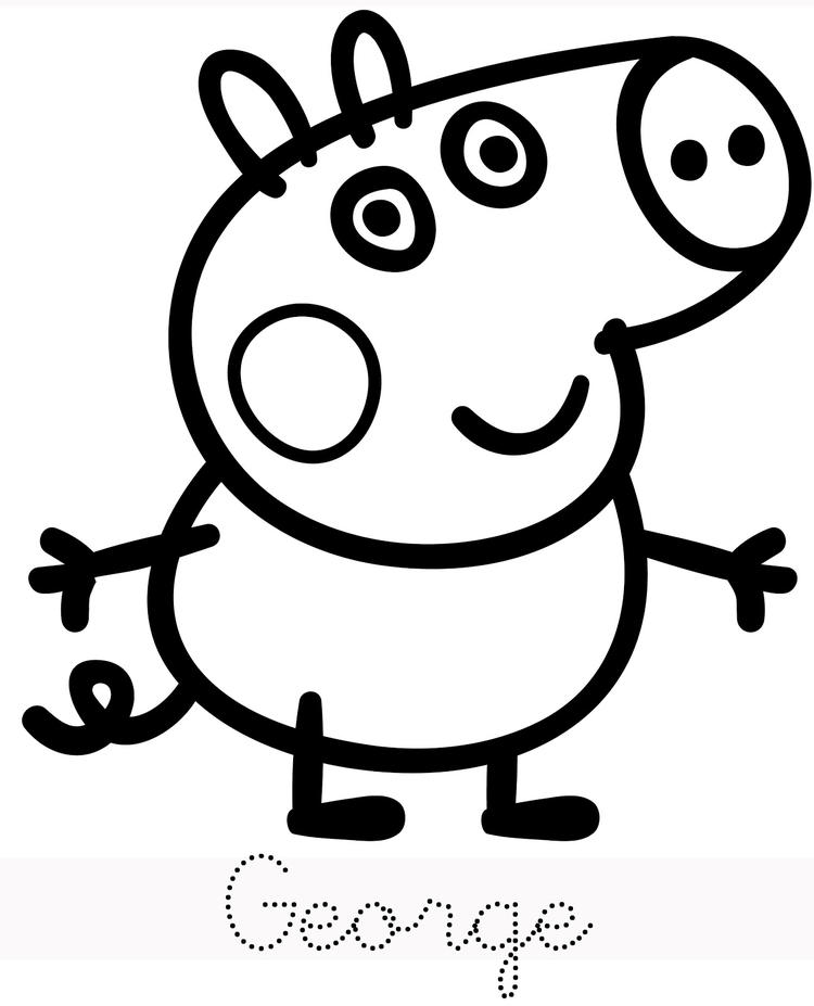 Peppa Pig George Coloring Pages For Child