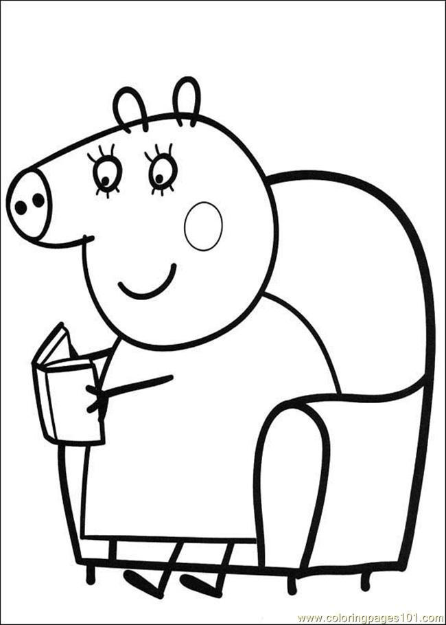 Peppa Pig George Coloring Pages For Kindergarten