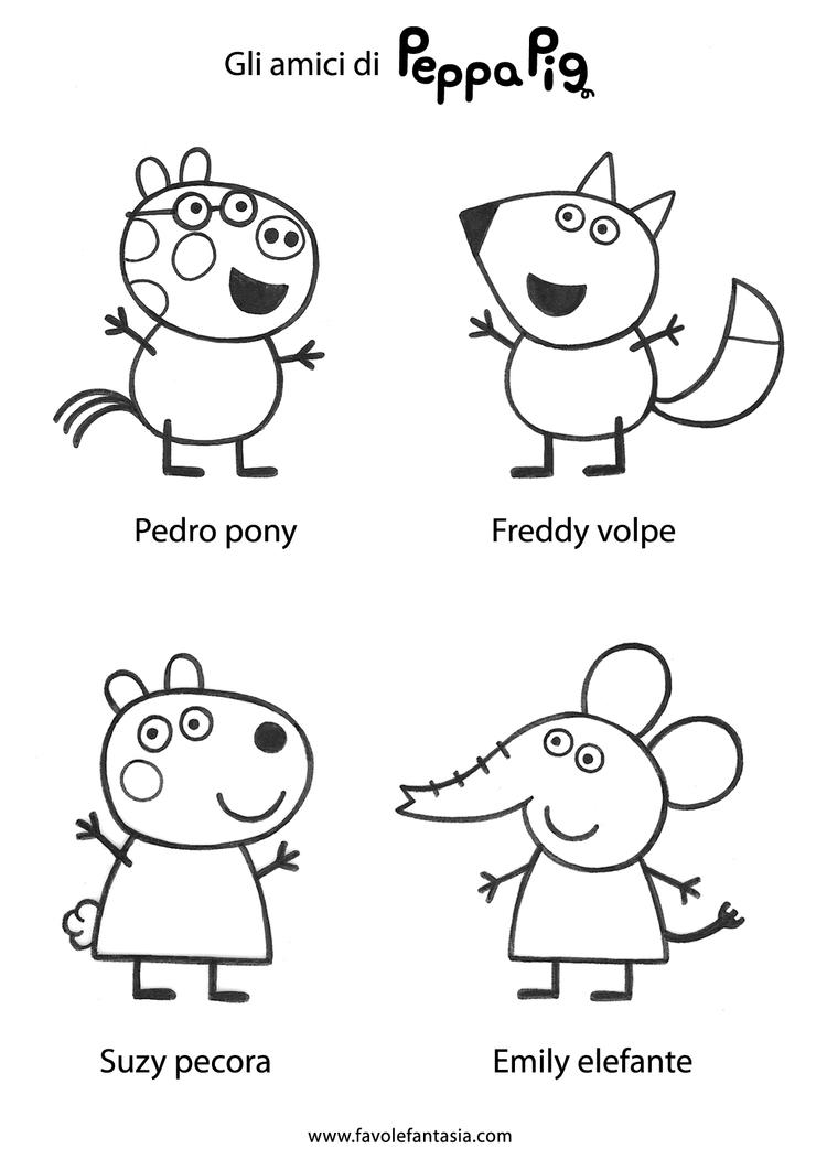 Peppa Pig George Coloring Pages For Preschool 1