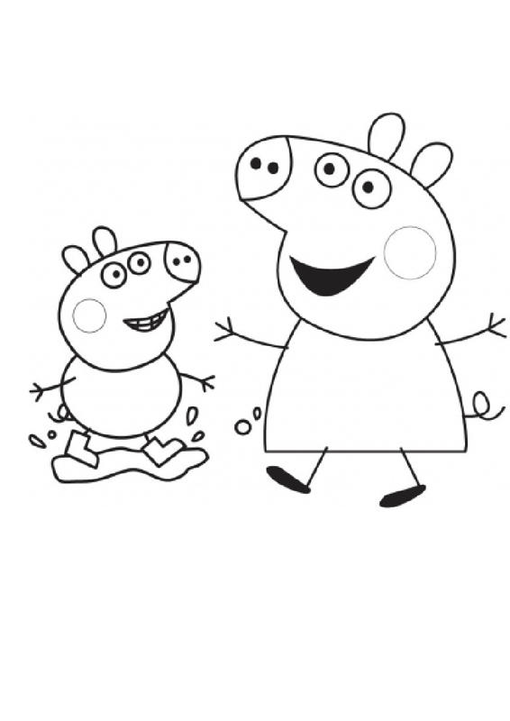 Peppa Pig George Coloring Pages For Preschool
