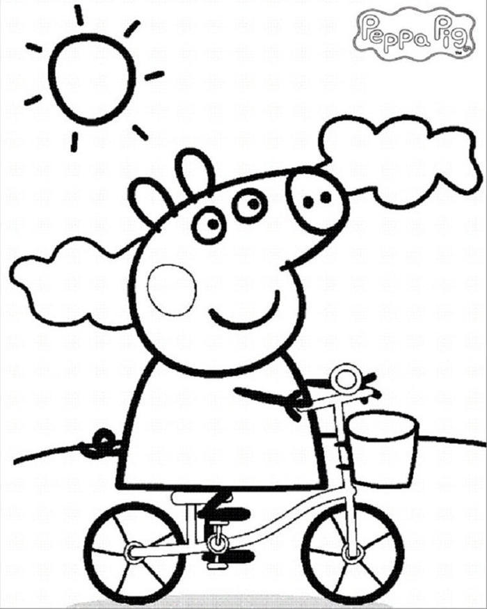 Peppa Pig In Summer Coloring Pages
