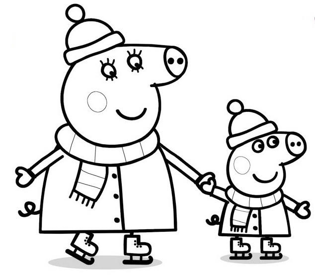 Peppa Pig Nick Jr Coloring Sheet