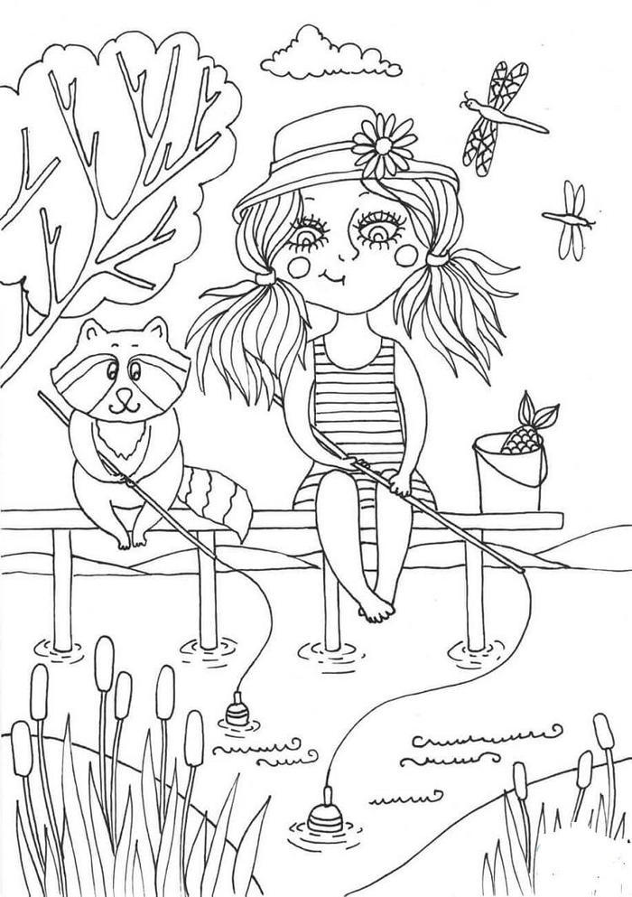Peppy In June Coloring Pages