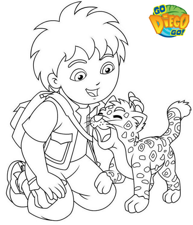 Perfect Diego And Baby Jaguar Coloring Pages Online