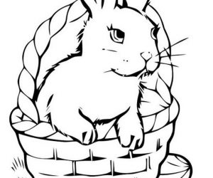 Perfect easter bunny coloring pages