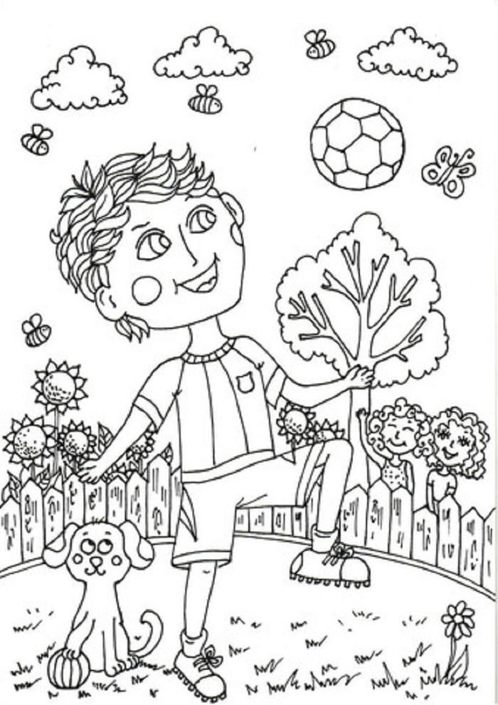 Peter Boy In June Coloring Pages