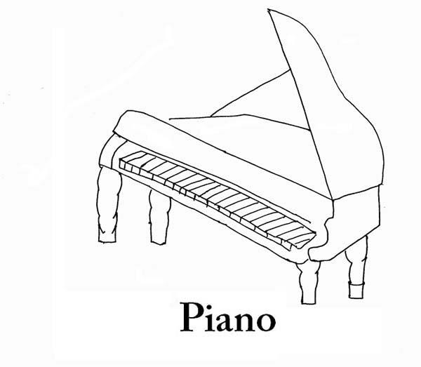 Piano Is A Musical Instruments Coloring Pages