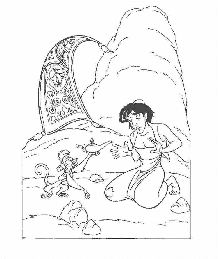 Picture Aladdin Coloring Pages Printable