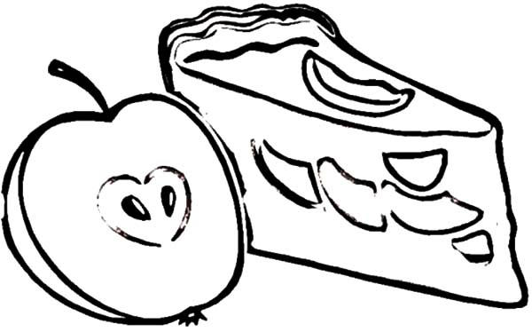 Picture Of Apple Pie Slice Coloring Pages