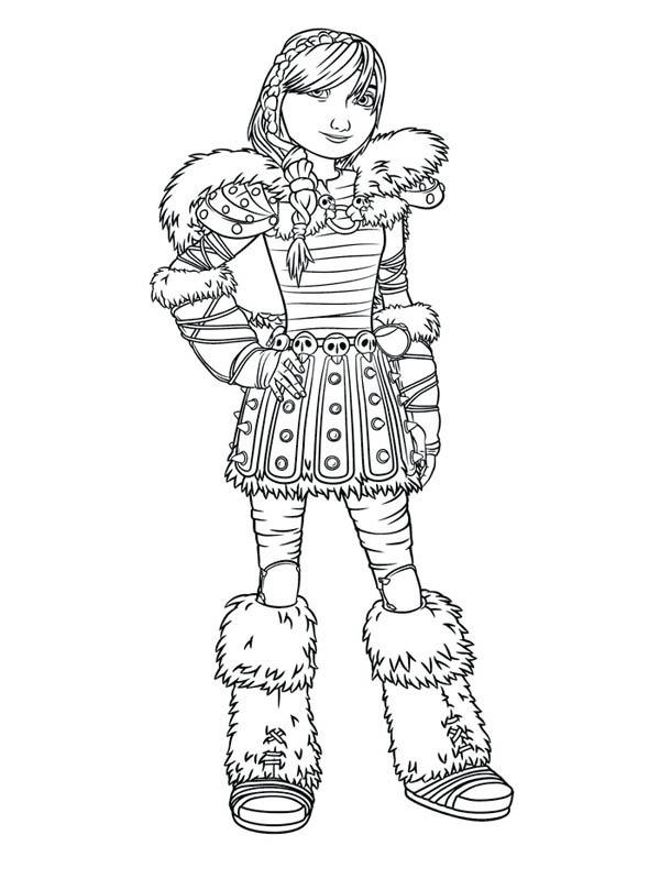 Picture Of Astrid How To Train Your Dragon Coloring Pages
