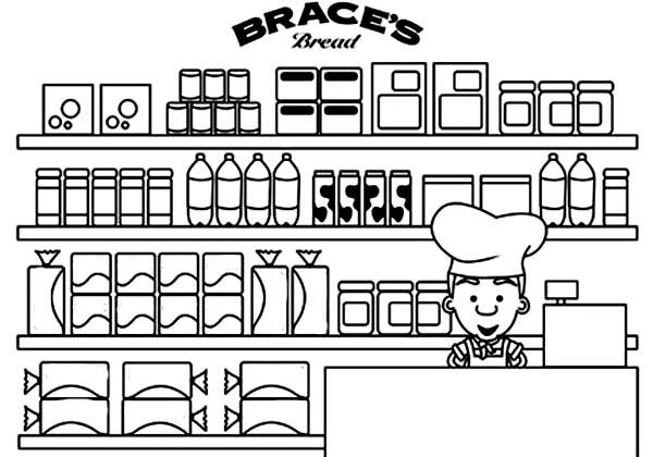 Picture of bakery coloring pages